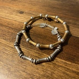 Set of two Bamboo Alex and Ani bracelets